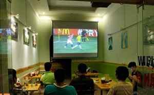máy chiếu quán cafe bóng đá