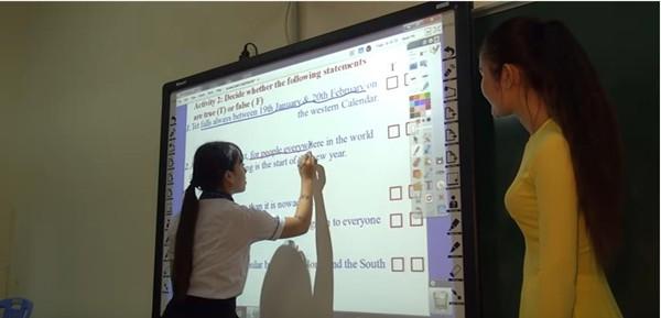máy chiếu dạy học