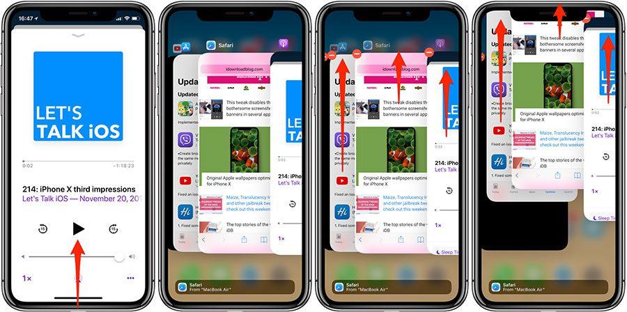 cách đóng ứng dụng của iphone x dễ nhất