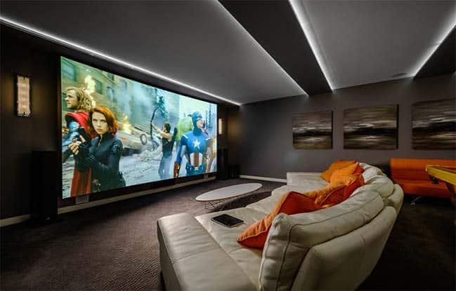 phòng chiếu phim tại nhà