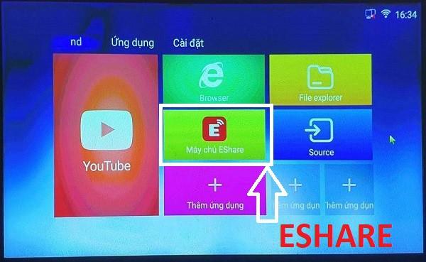 Tính năng Eshare của máy chiếu TYCO