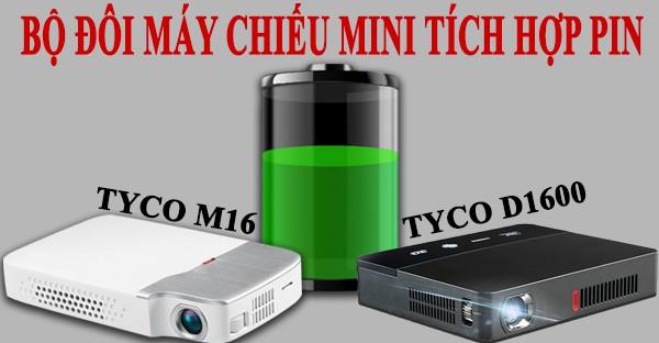 máy chiếu mini tích hợp pin