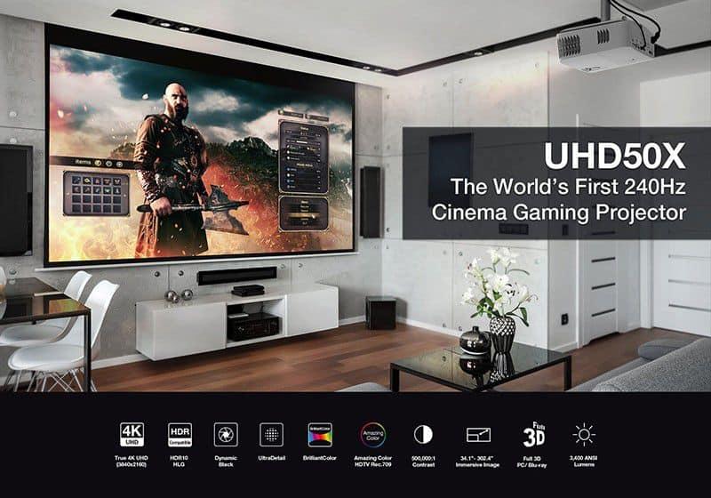 Máy chiếu 4K Optoma UHD50X