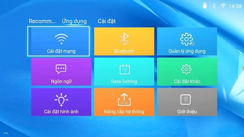 giao diện máy chiếu Full HD TYCO T8HD+ Wifi